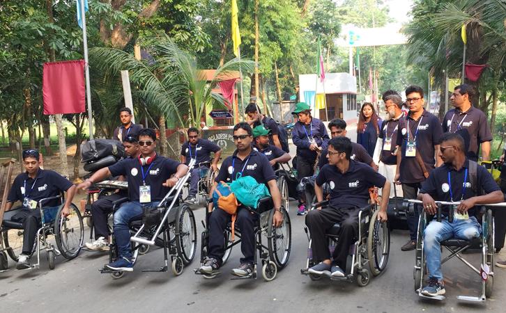 আখাউড়া দিয়ে ভারতে গেল বাংলাদেশ প্রতিবন্ধী ক্রিকেট দল