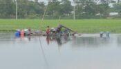 ব্রাহ্মণবাড়িয়ায় অবৈধভাবে ড্রেজার দিয়ে বালু উত্তোলণ: হুমকীর মুখে কৃষি জমি